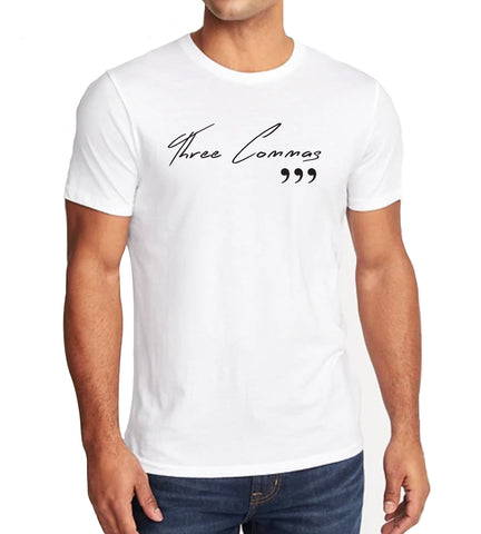 Three Commas Script Tee