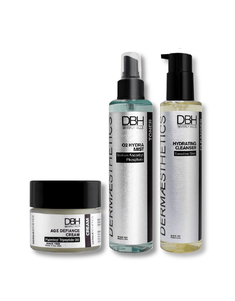 Hydrating and Firming Treatment Kit For Fine Lines and Wrinkles Simple Product Dermaesthetics Beverly Hills