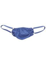 Mission Statement Apparel Masks 1 / Royal Blue Cotton & Cashmere Face Mask