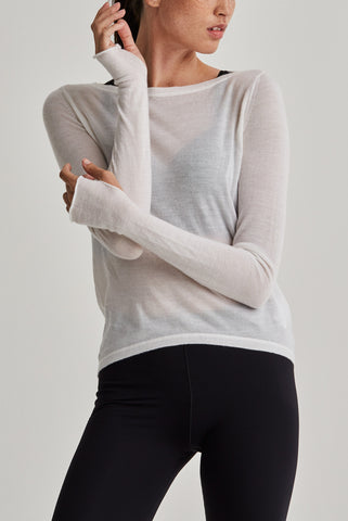 Mission Statement Apparel Top Cloud Layer 4 Cashmere Knit