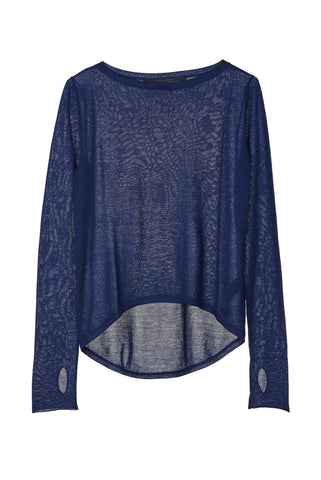 Mission Statement Apparel Top Navy / 1 Cloud Layer 4 Cashmere Knit