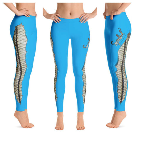 Spooled Snook Blue Leggings