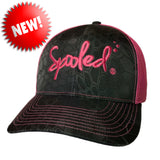 Spooled Pink Black Kryptek Safety-Pink Mesh Snapbacks