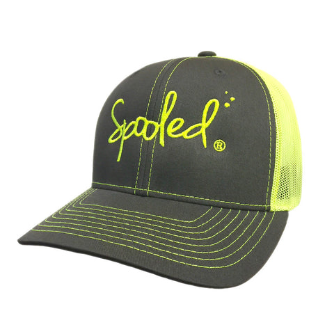 Spooled Grey with Neon Green Mesh Snapback