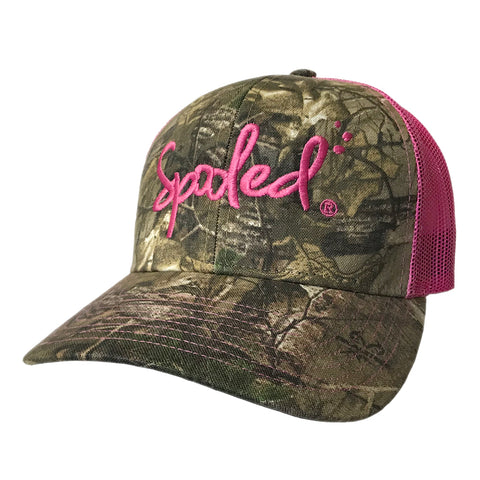 Spooled Realtree Xtra® Camo with Pink Mesh Snapback