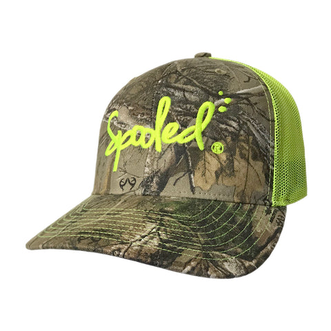 Spooled Realtree Xtra® Camo with Safety Green Mesh Snapback