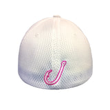 Flexfit White with Pink Spooled