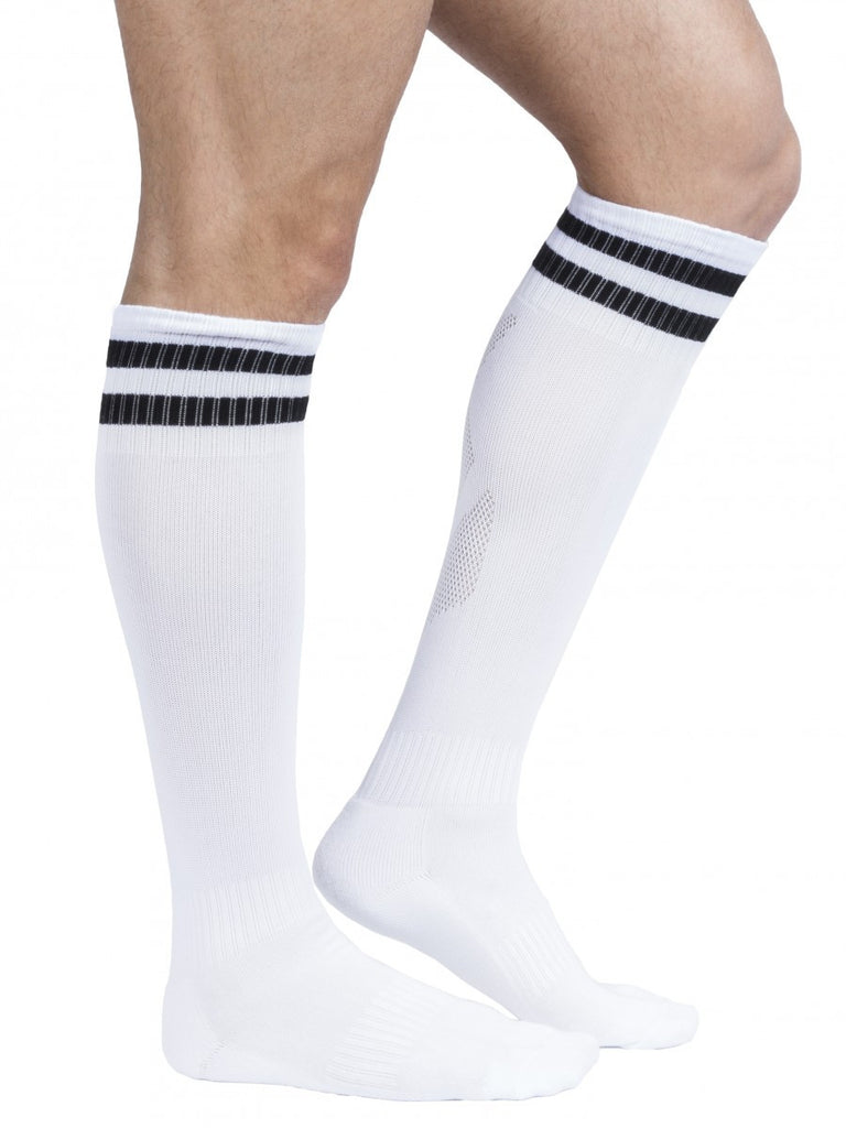 Super Sexy Soccer Socks White