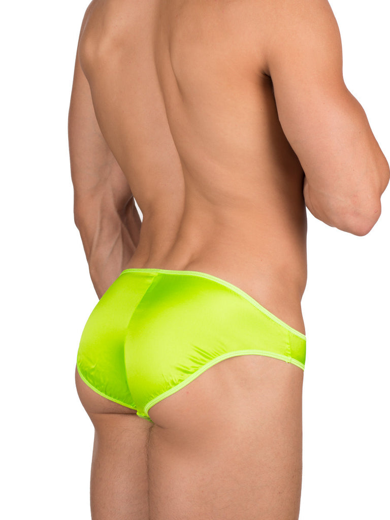 Silk Shimmer Brief  Lime