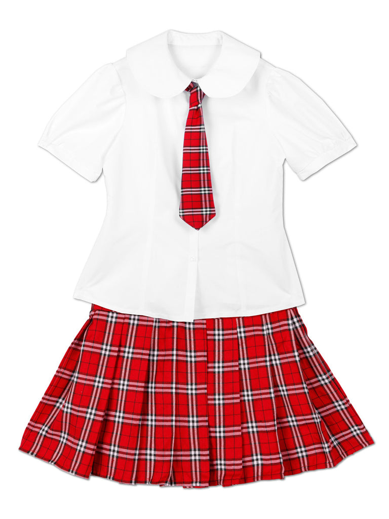 Men's plaid school girl crossdressing costume dress