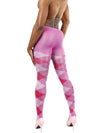 Men's pink argyle tights