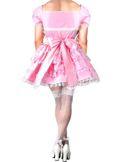 Men's pink frilly lace crossdressing princess dress