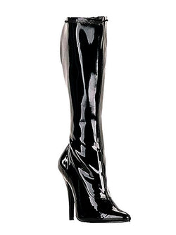 Men's shiny dominatrix boots