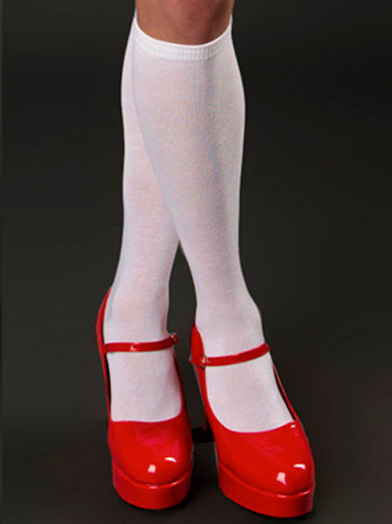 Men's red thick high heel crossdressing shoes