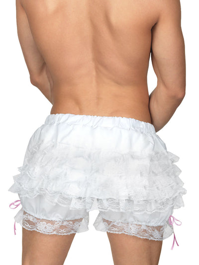 Men's ruffled white bloomers