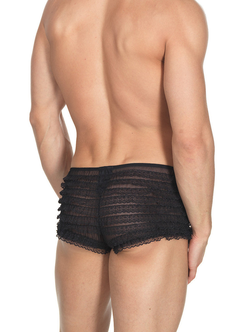 Men's black lace bloomers