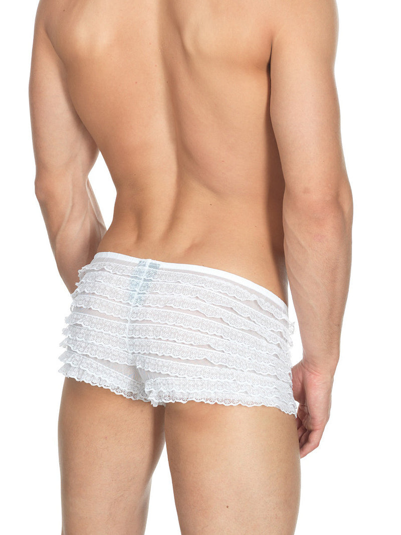 Men's white lace bloomers