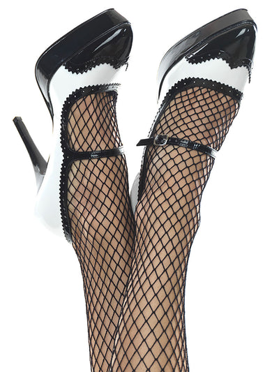 Men's black and white high heels