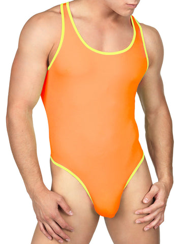 Showstopper Bodysuit Neon Orange