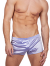 Men's purple satin gym short