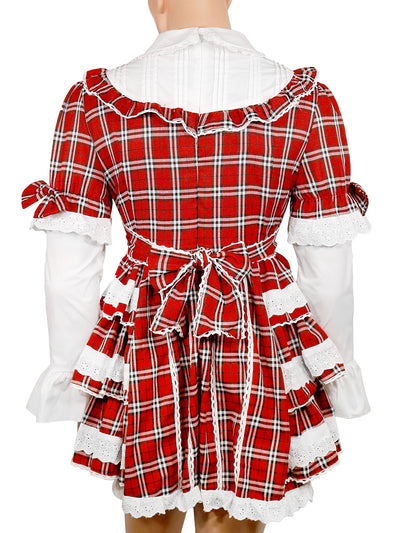 Men's Plaid School Girl Dress