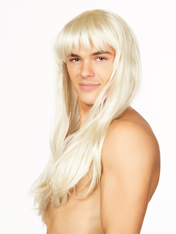 Long Blonde Fringe Wig