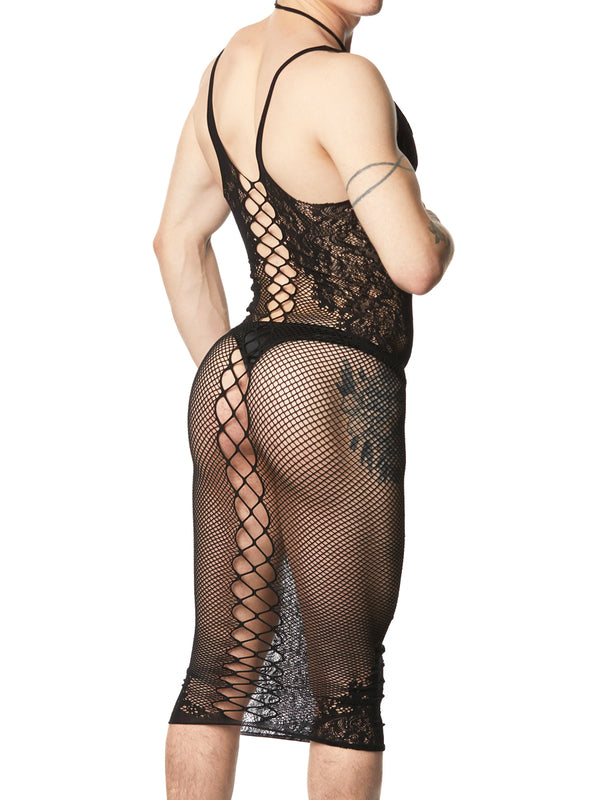 men's fishnet dress