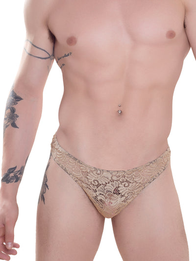 Men's Nude Lace Thong underwear