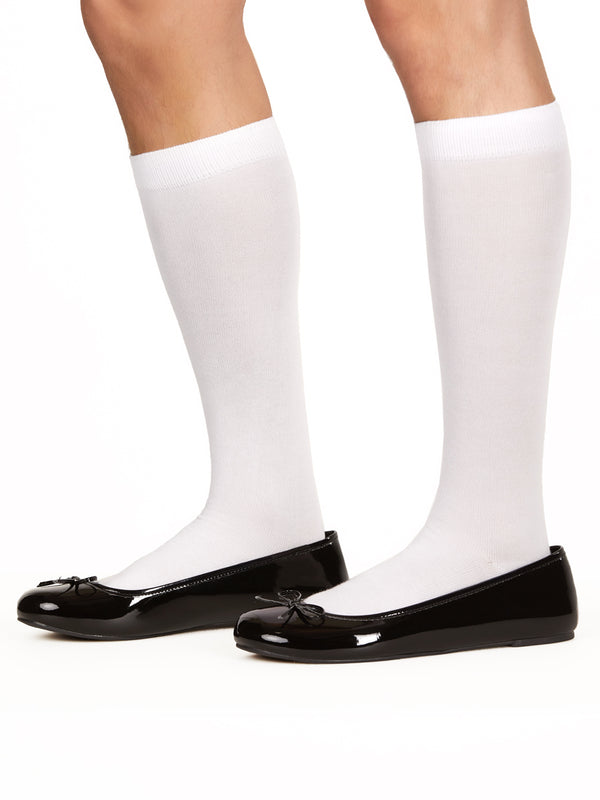 Men's white knee high socks