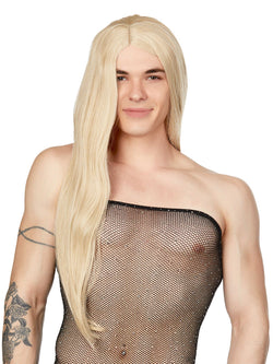 Men's Long Blonde Wig
