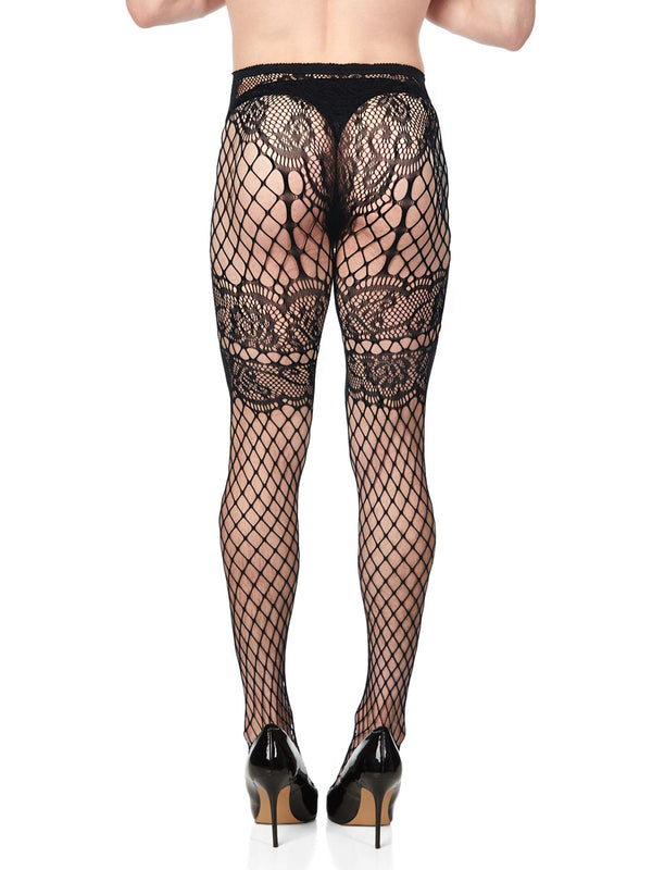 French Garter Net Tights