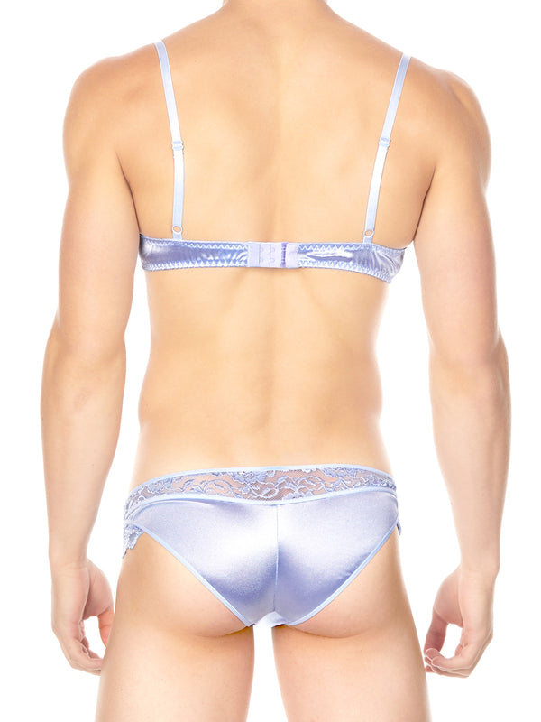 Men's blue satin bra