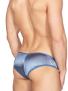 Men's blue satin and lace sissy panties