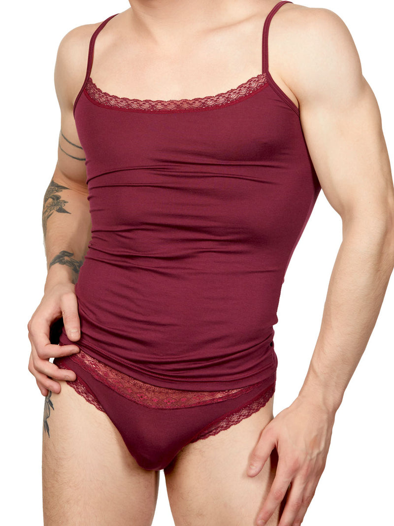 Men's Lace Micro Modal Camisoles