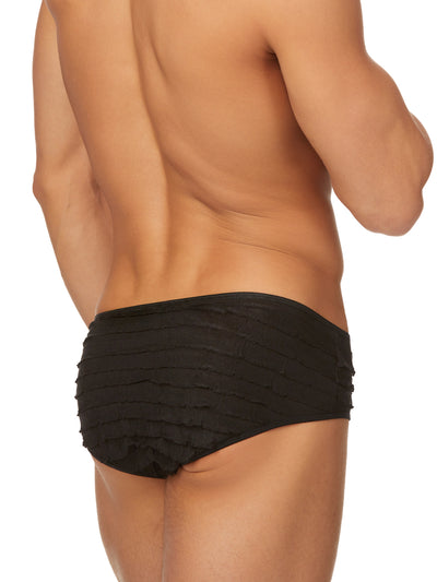 Men's black ruffled panties