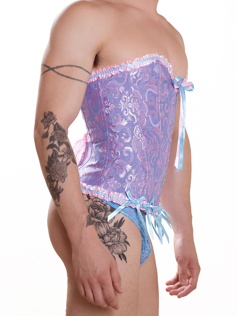Men's Blue & Pink Frilly Corset