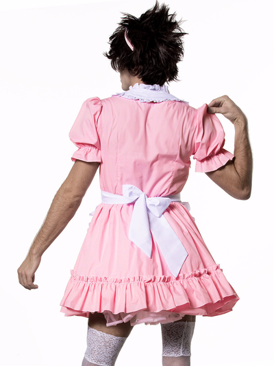 Men's Sexy Pink Maid Dress