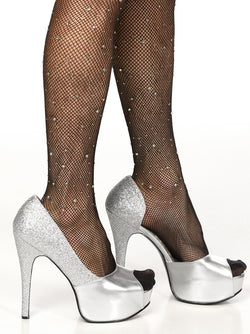 Men's sparkly high heeled shoes