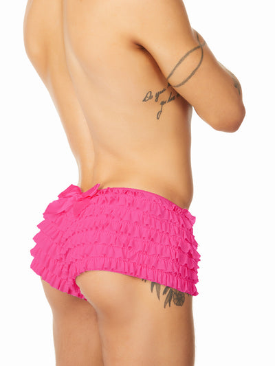 Men's pink ruffled panties