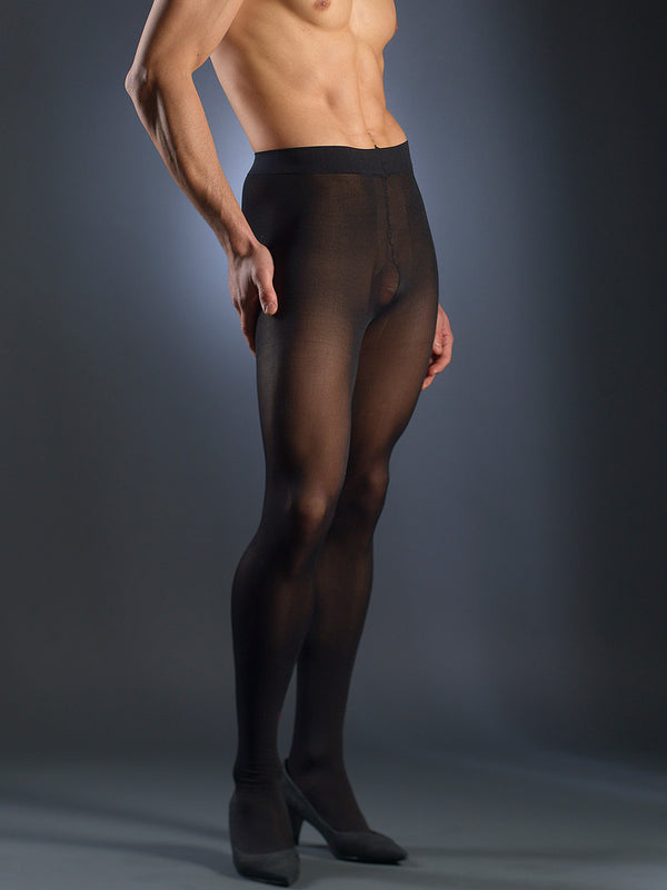 Men's black sheer tights