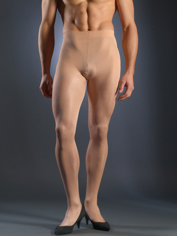 Men's nude sheer tights