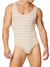 The Striped Ribbed Rayon Bodysuit for Men