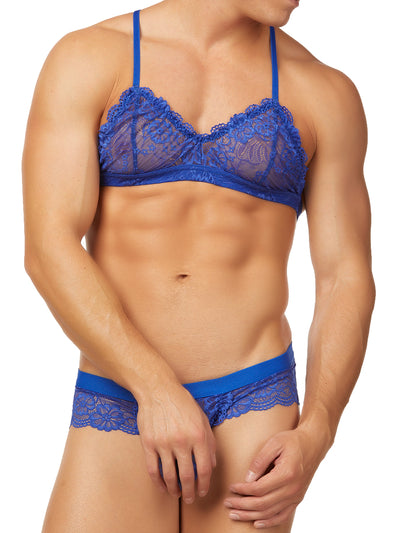 Men's Lace Crochet Bra