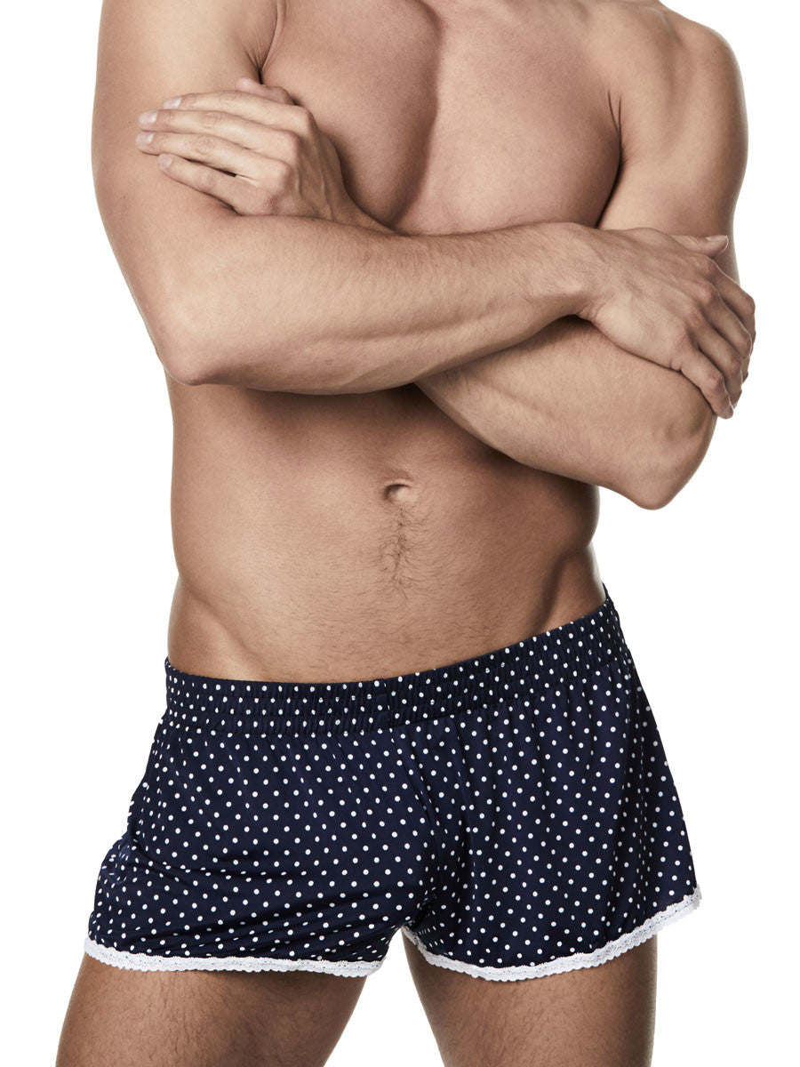Men's polka dot lace shorts