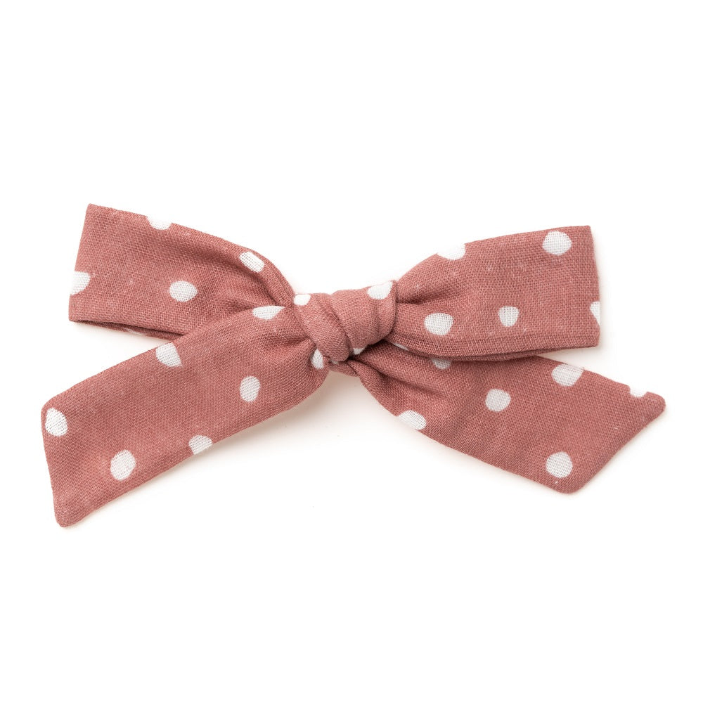 La Grande Oversized Handtied Bow // Blossom Drops in Raspberry
