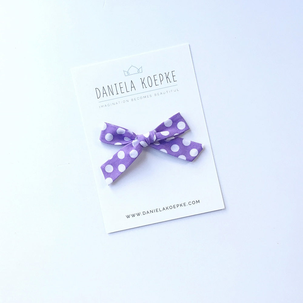 The Lucy Handtied Medium Bow // Jam Dot