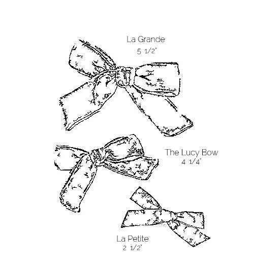 The Lucy Handtied Medium Bow // Paris