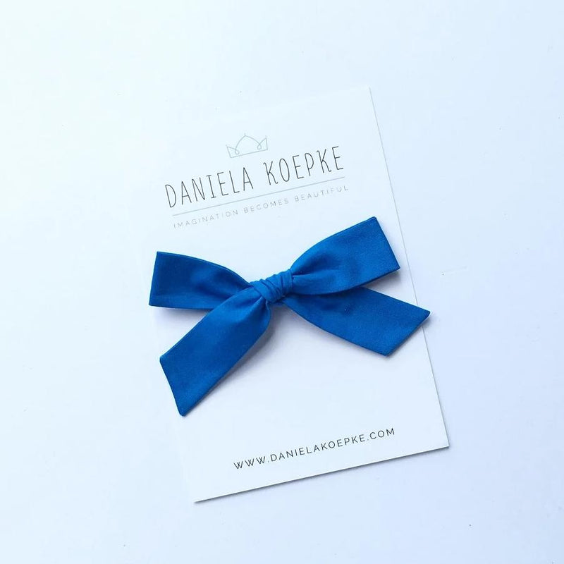 La Grande Oversized Handtied Bow // Electric Blue