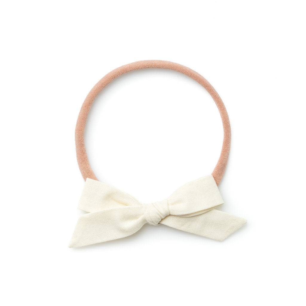 La Petite Handtied Bow // Moonlight - Headband or Clip