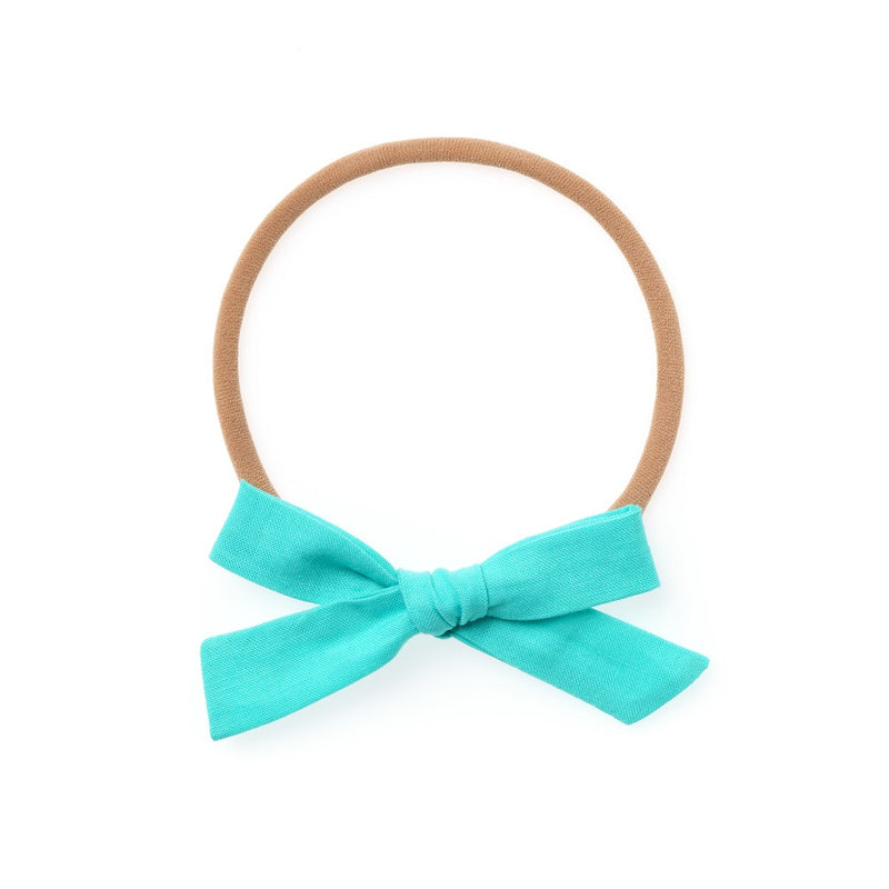 La Petite Handtied Bow // Chilly Morning - Headband or Clip